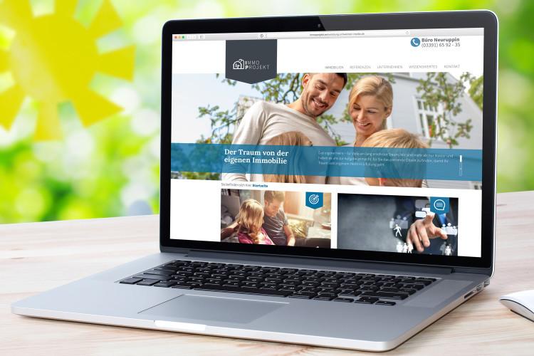 Laptop mit Website von Imme Projekt